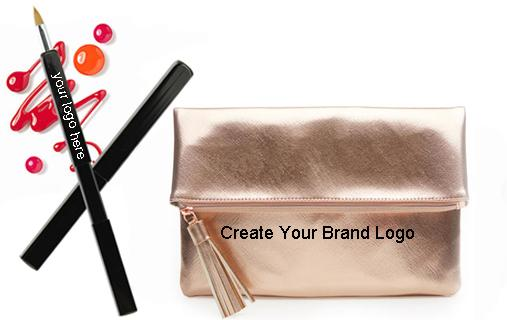 Natural Goat Pony Hair Makeup Brushes Set With Zipper Case , Eyeshadow Brush Set