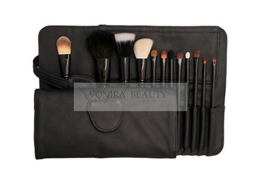 Basic 12PCS  Cosmetic Makeup Brush Set Premium Natural Animal & Synthetic Hair With Case