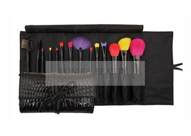 Colorful 14 Pieces Professional Makeup Brush Set With Premium Synthetic Hair