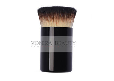 China Small Flat Individual Makeup Brushes / Buffer Makeup Brushes Three Tones Soft and Flexible Fibers supplier