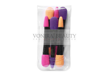 6 Pcs Dual End Makeup Puff Sponge For Eye Shadow , Latex Free Sponge