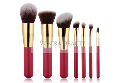 Elegant Limited Edition Vegan Taklon Synthetic Makeup Brushes With Gold Ferrule