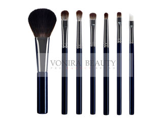 Antibacterial Treated Bristle Makeup Brush With Gorgeous Dark Blue Handle