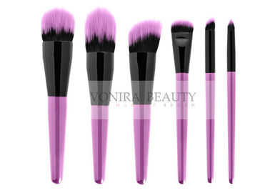 Luxury Purple Hair Tip Duo Synthetic Fiber Brush Softest For Travling