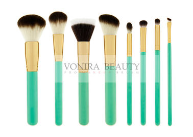 Exquisite Synthetic Makeup Brushes Green Wooden Handle Foundation Face Brush