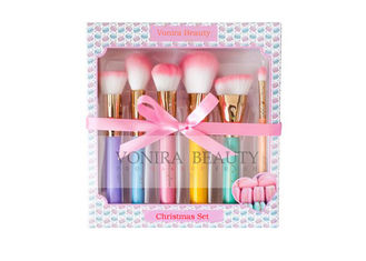 Christmas Gift Cosmetic Cute Makeup Brushes With Lovely Pink Soft Hairs