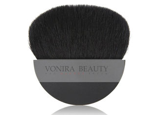 China High Quality Black Half Moon Compact Makeup Blush Brush With XGF Goat Hair supplier