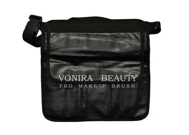 Professional PU Leather Makeup Brush Artist Waist Bag With Belt Strap