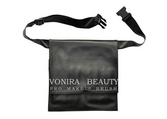 Professional Double Layers Makeup Brush Artist Waist Bag With Belt Strap