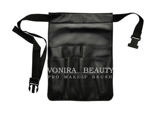 6 Pockets Professional Cosmetic Makeup Brush Bag With Artist Belt Strap