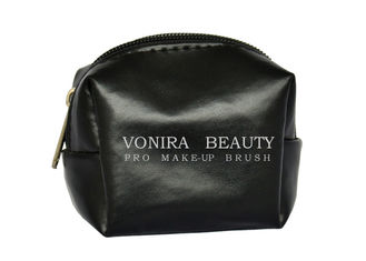 Portable PU Leather Travel Makeup Brush Bag / Fake Leather Cosmetic Brush Bag
