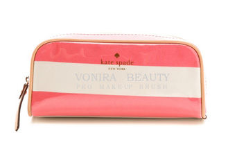 China PU Pencil Case Pouch Wave Stripe Zipper Closure Travel Cosmetic Makeup Bag Cute Pen Stationery Holder supplier