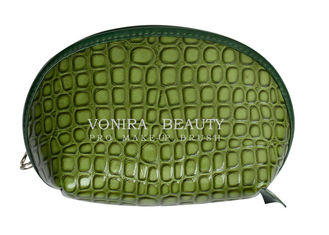 Crocodile Leather Makeup Pouch Shell Cosmetic Purses Handbag