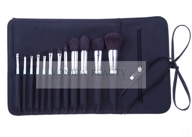 Luxury 12PCs Natural Hair Makeup Brush Collection Cosmetic Brush Roll Collection