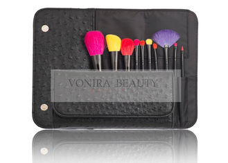 Colorful Mini Makeup Brush Travel Set Magnetic Case / Synthetic Eyeshadow Brush