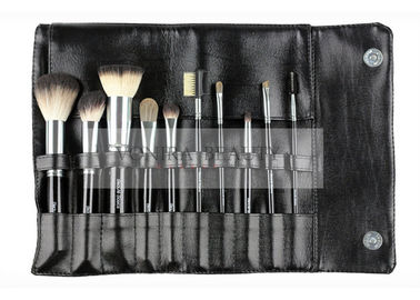 China Classic Italian Badger Hair Color Travel Makeup Brush Set / Angle Blush Brush supplier