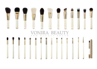 Professional Full Line Gold Color Makeup Brush Set Custom Private Label