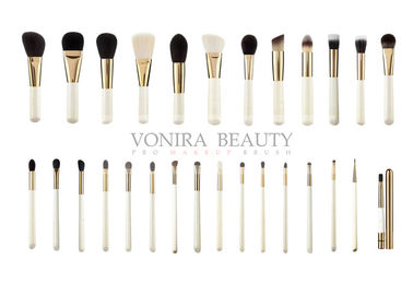 China Professional Full Line Gold Color Makeup Brush Set Custom Private Label supplier