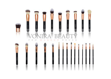 China Private Label Rose Gold Makeup Brushes 25pcs Eye Makeup Brush Set supplier