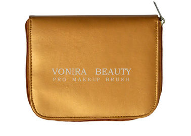 Travel Makeup Brush Bag With Mirror Cosmetic Pouch Holder
