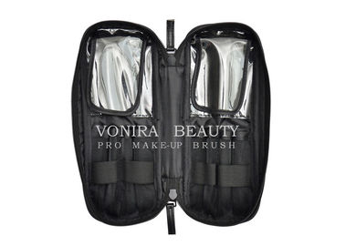 Professional Multi-Function Makeup Brush Zipper Bag Cosmetic Handbag Black Toiletry Travel Case