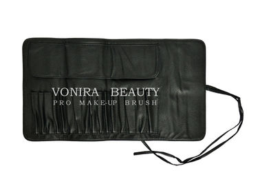 Professional Makeup Brush Rolling Case Pouch Holder Cosmetic Bag Case with Belt Strap for Travel & Home Use