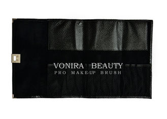 Pro Makeup Brush Case Cosmetic Roll Bag For Purse Or Travel Pen Holder