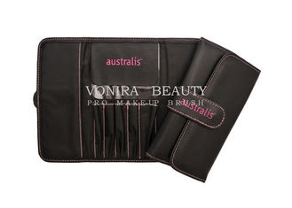 Popular Leather Makeup Brush Roll Bag Pencil Holder Case Cosmetic Pouch Bag