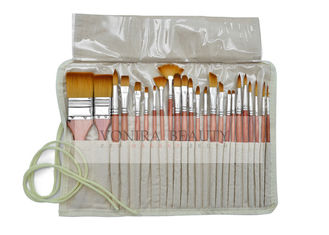 School Artists Body Paint Brushes Set Wood Watercolor Brushes Set with Pencil Case