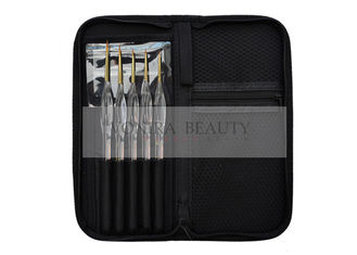 5pcs Acrylic Nail Brush Drawing Pen Design Nail Art Tools With Brush Case