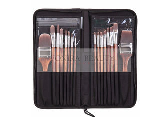 Nylon Hair Wooden Handle Body Paint Brushes16pcs Set High Quality Painting Brushes Set