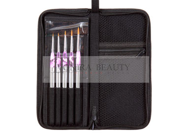 Golden Nylon Hair Portable Package Professional Nail Art Brushes 5PC Watercolor Drawing Paint Art Brushes