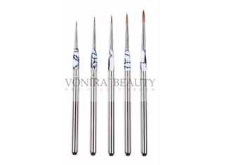 Synthetic Hair Marble Acrylic Handle Watercolor Art Paint Brushes Pro Artists Drawing Painting
