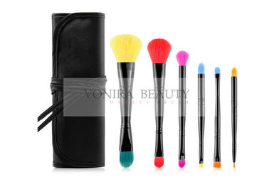 Dual End Promotional Makeup Brush Gift Set Vegan Taklon With Brush Case