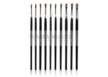 Vegan Taklon Flat Angle Nail Art Paint Brushes Professional Classic Black