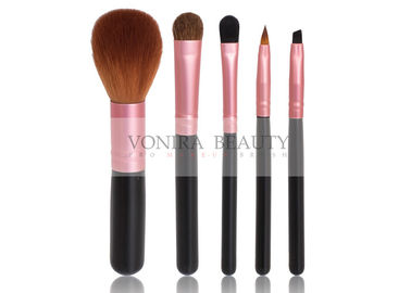 5 PCS Promotional All Line Makeup Brush Gift Set With Rose Gold Ferrule
