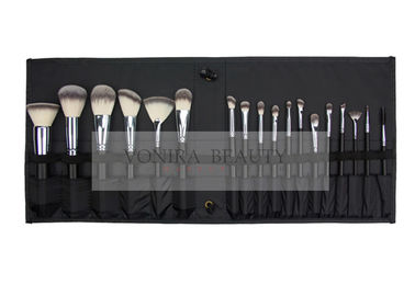 Professional Synthetic Makeup Brushes Kit 18pcs With Black Roll Bag