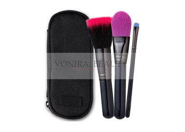 Customized Mini Finger Makeup Brush Gift Set With Zippered Brush Case