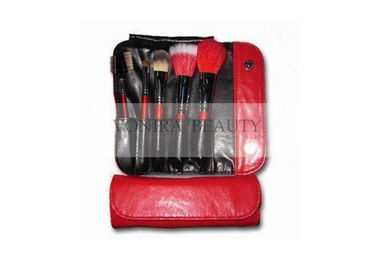 Special Collection Makeup Brush Gift Set Mini Size Classic Red Buttoned Brush Case