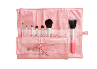 Portable Cosmetic  Travel Makeup Brush Set Pink Travel Makeup Roll Bag