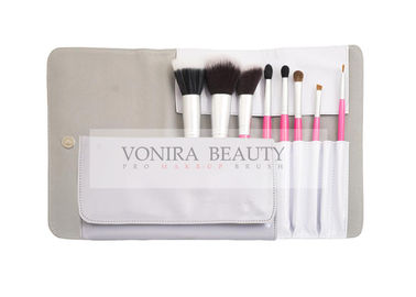 8 Piece Pro Labeled Makeup Brush Set With Matching Designer Case Travel Brush Kit