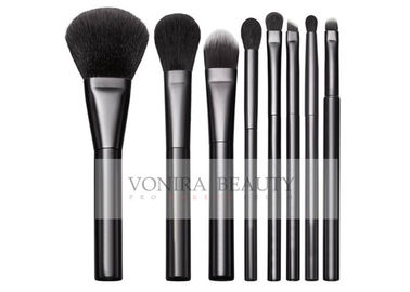 Classic Black Basic 8Pcs Full Makeup Brush Set Goat Hair And Resilient Ultra Fine Synthetic Hair