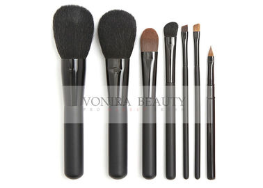 7 PCS Elegant Black Essential Makeup Brushes Set With Highest Quality Nature Bristles