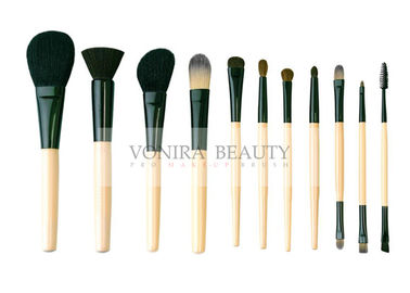 Basic 11Pcs Mface Makeup Brush Set With Three Multi Functional Duel End Eye Brushes