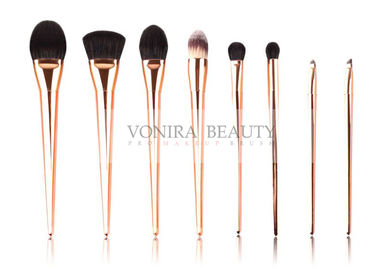 Taklon Hair Gold Professional Makeup Artist Brushes For Facial Eye