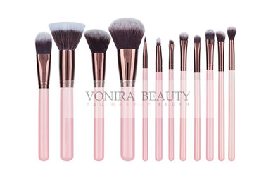 Pink Dual-Toned Nature Fiber All Line Makeup Brush Set With Rosy Gold Ferrule
