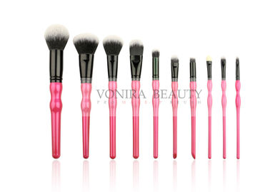 New Trending 10PCS Makeup Brush Set With Wooden Gourd Shaped Handle And Synthetic Hair