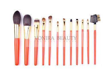 Artist Orange Limited Edition Makeup Brush Collection With Best Bristles And Nature Wood Handle