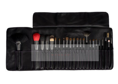 China Animal Hair Professional Makeup Brush Set 23Pcs With Soft PU Carrying Case supplier