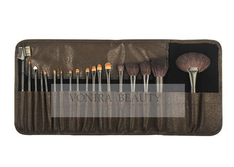 China Goat & Premium Synthetic Hair Beauty Professional Cosmetic Brush Set  With Durable Holder supplier